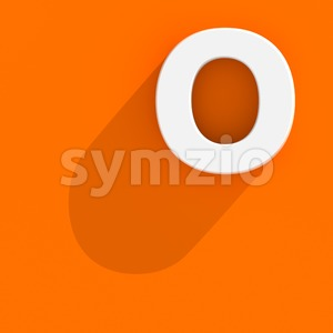 3d Upper-case letter O with Flat design style Stock Photo