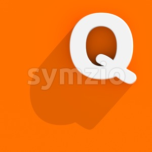 3d Upper-case font Q with web design style - Capital 3d character Stock Photo