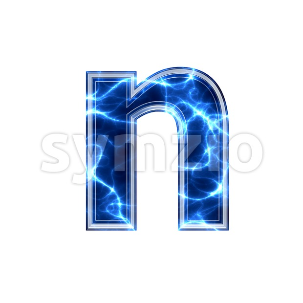 Lower-case Electric letter N - Small 3d font stock photo image ...