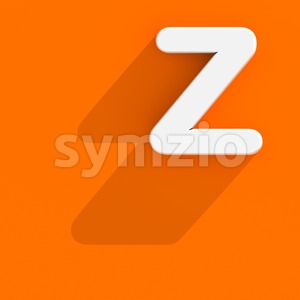 web design letter Z - Upper-case 3d font Stock Photo