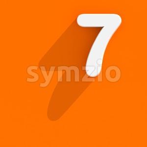 Flat design number 7 - 3d digit Stock Photo