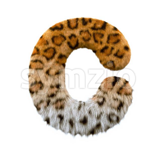 3d jaguar font C - Capital 3d letter Stock Photo