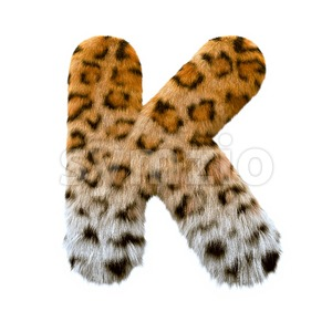 Uppercase jaguar letter K - Capital 3d font Stock Photo