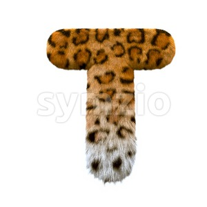 panther character T - Uppercase 3d letter Stock Photo