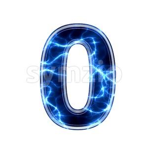 lightning number 0 -  3d digit Stock Photo