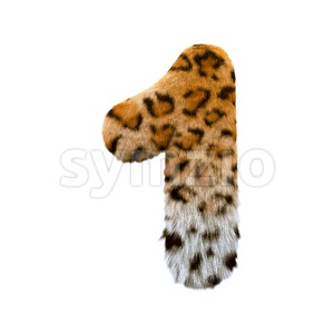 jaguar number 1 - 3d digit Stock Photo