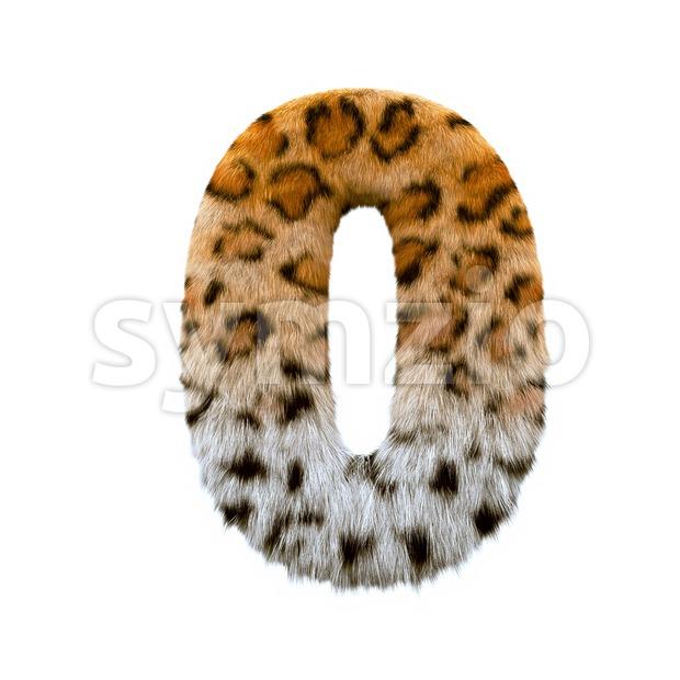 jaguar number 0 - 3d digit Stock Photo