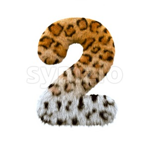 jaguar digit 2 - 3d number Stock Photo