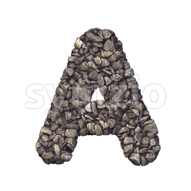 stone letter A - Capital 3d character Stock Photo