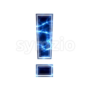 lightning exclamation point - 3d symbol Stock Photo
