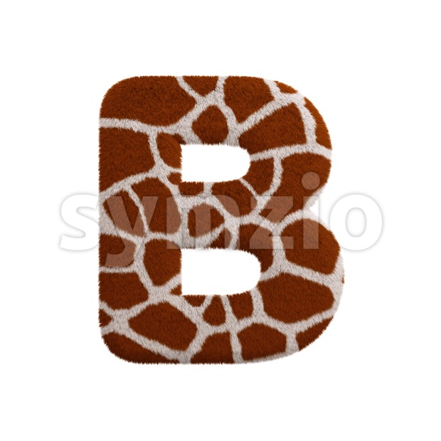 Capital safari letter B