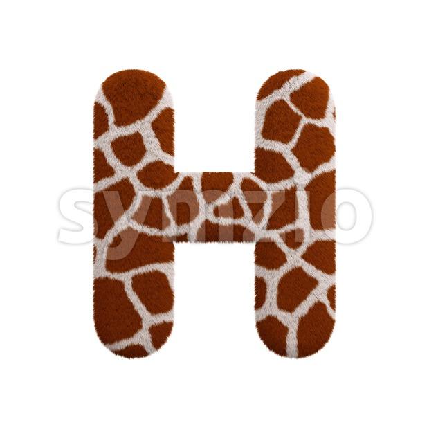 safari 3d letter H - Upper-case 3d character Stock Photo