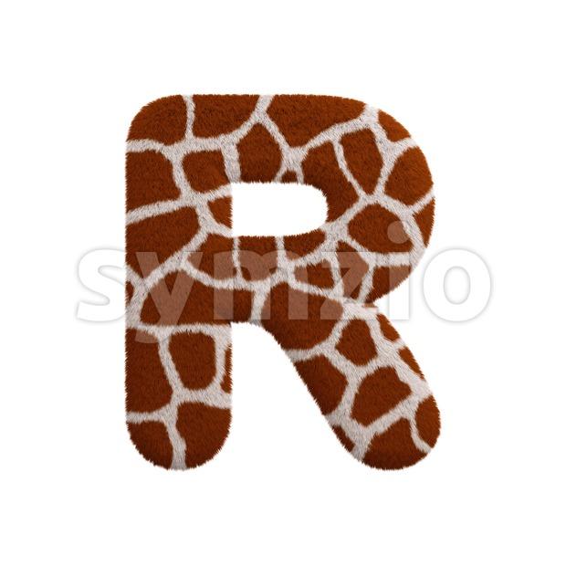 safari letter R - Uppercase 3d font Stock Photo