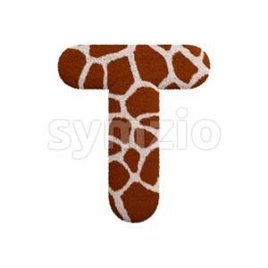 safari character T - Uppercase 3d letter Stock Photo
