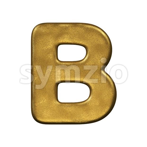 Capital gold foil letter B
